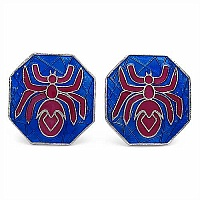9.90 Grams Spider Shape Blue & Maroon Enamel Cufflinks