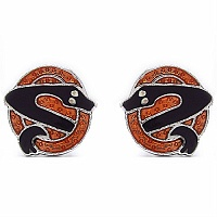 7.10 Grams Snake Shape Brown & Black Enamel Cufflinks