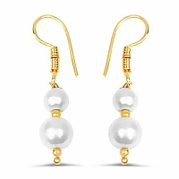 Pearl Gold Plated Brass Earrings